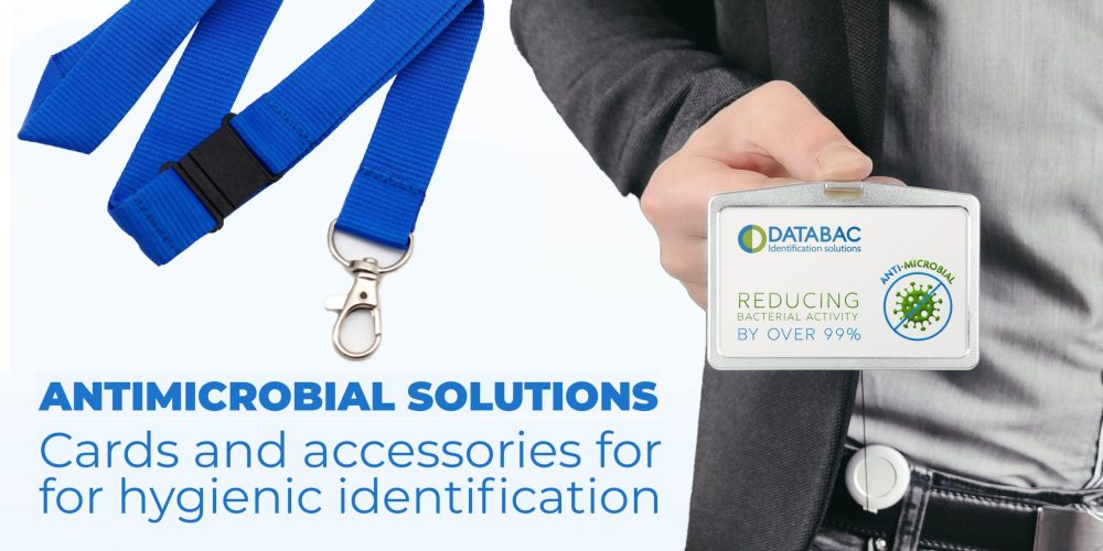 Anti-microbial cards and accessories for 'hygienic identification'